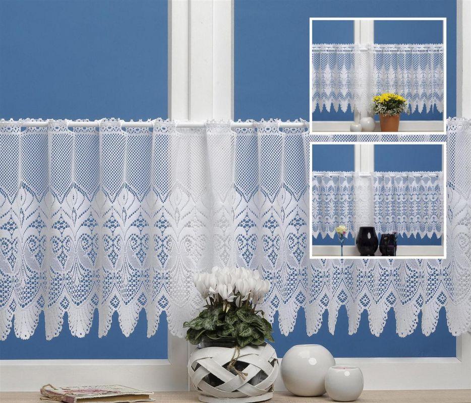 bistrogardine bornholm wei in 160x45cm versch modelle. Black Bedroom Furniture Sets. Home Design Ideas