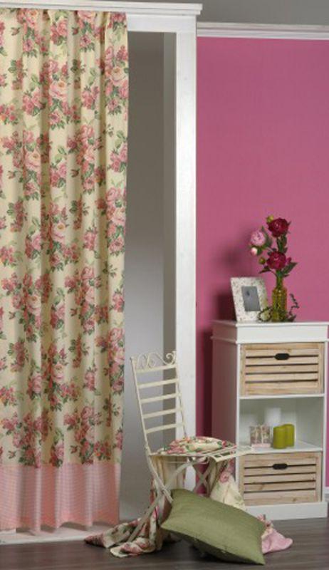 gardinen deko gr ne gardinen mit kr uselband gardinen. Black Bedroom Furniture Sets. Home Design Ideas