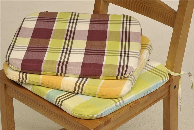 sitzkissen stuhlkissen stuhlplatte moderne farben kissen kariert ca. Black Bedroom Furniture Sets. Home Design Ideas