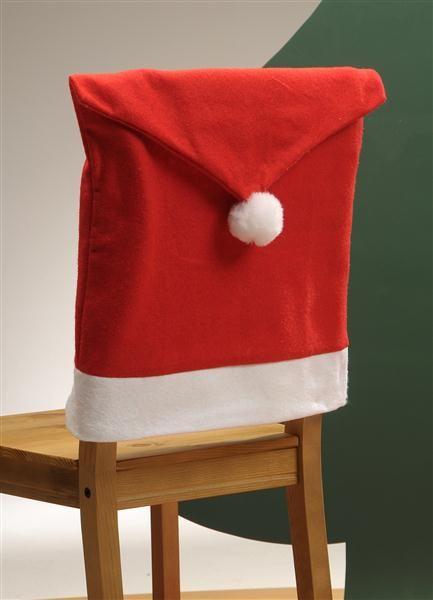 stuhlhusse weihnachten samt mit bommel nikolaus bezug ca. Black Bedroom Furniture Sets. Home Design Ideas
