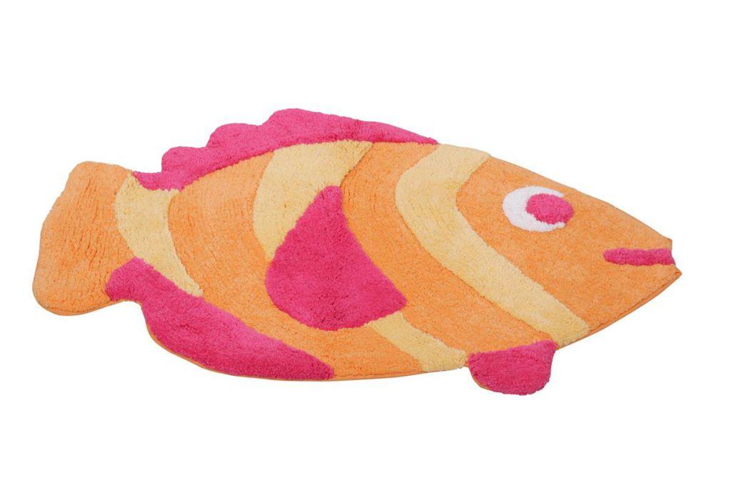 Badezimmerteppich Fisch Duschvorleger Badematte Badteppich Badvorleger