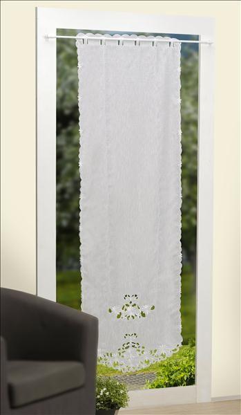t r gardine panneaux bestickt mit blumen wei ca 60x180c. Black Bedroom Furniture Sets. Home Design Ideas