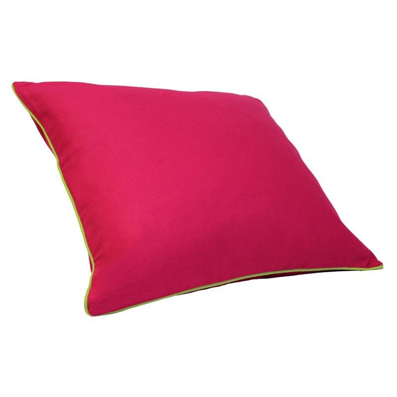 kissenh lle lilly leinenoptik mit paspel 50x50 neon pink paspel limetten gr n haus und deko. Black Bedroom Furniture Sets. Home Design Ideas
