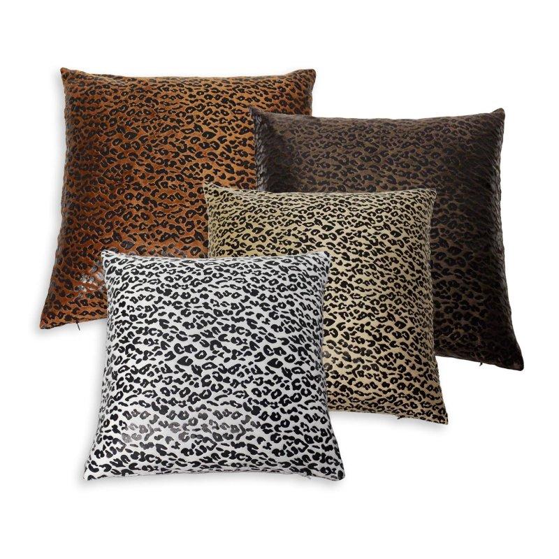 kissenh lle leo 50x50 cm kissenbezug fellmuster dekokissen. Black Bedroom Furniture Sets. Home Design Ideas