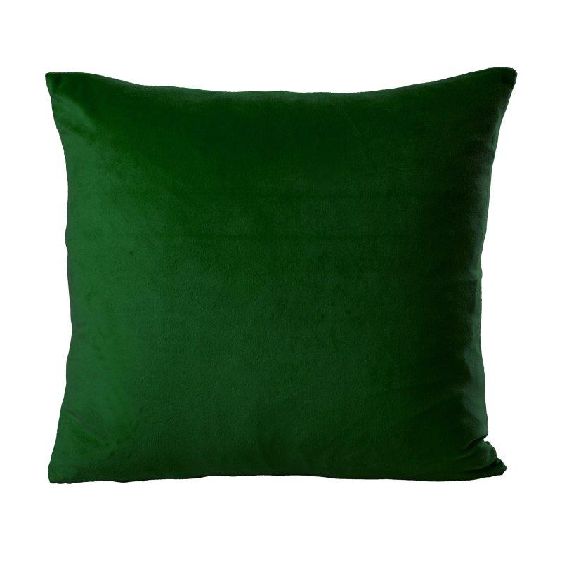 kissenh lle zierkissen uni samt kissenbezug 50x50 cm gr n dunkel haus deko haus und deko. Black Bedroom Furniture Sets. Home Design Ideas