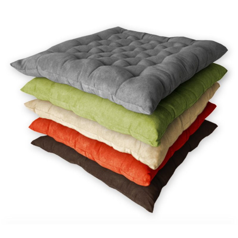 kissen auflage kreuzsteppung multisteppkissen sitzkissen stuhlkissen wildlederoptik ca 40x40 cm. Black Bedroom Furniture Sets. Home Design Ideas