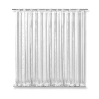 voile dekoschal isa 300x245 cm wei halb transparent. Black Bedroom Furniture Sets. Home Design Ideas