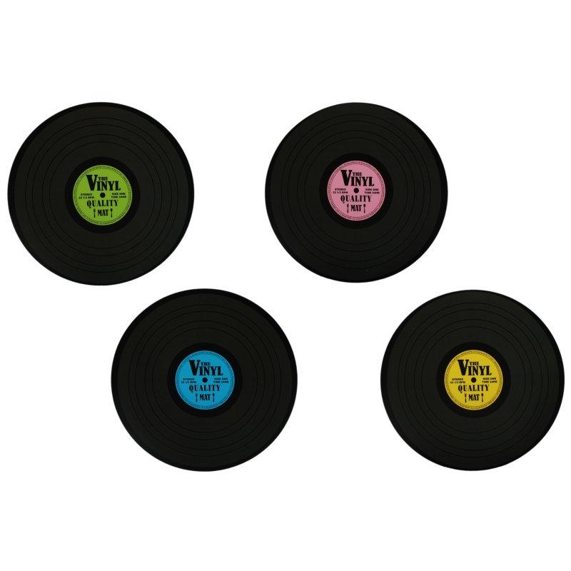 Platzsets Rund 38 Cm Schallplatte Vinyl Pvc Kunststoff