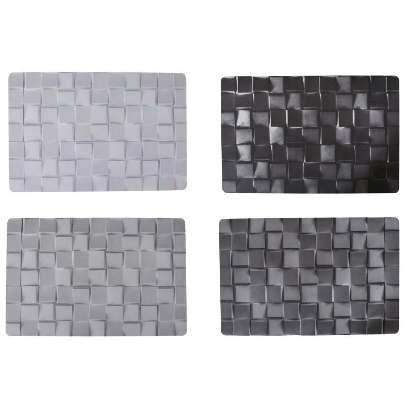 platzset fliesenmosaik vintage kunststoff graut ne abwaschbar mosaik tischset 28x44 cm 1656. Black Bedroom Furniture Sets. Home Design Ideas