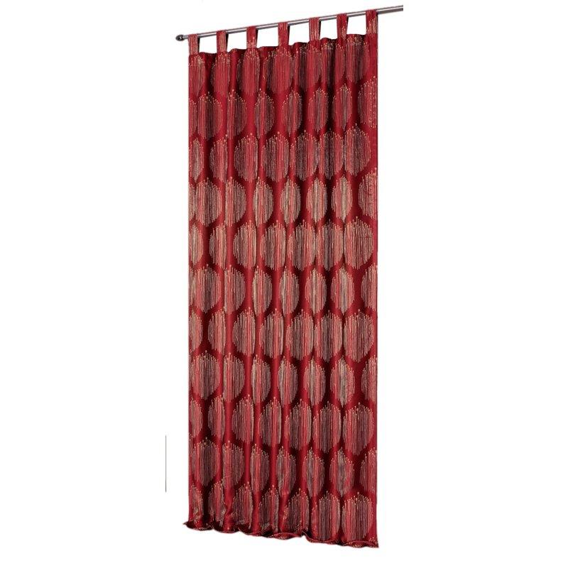 gardine mit schlaufen ca 140x225 cm bergardine blickdicht bordeaux 16 95. Black Bedroom Furniture Sets. Home Design Ideas