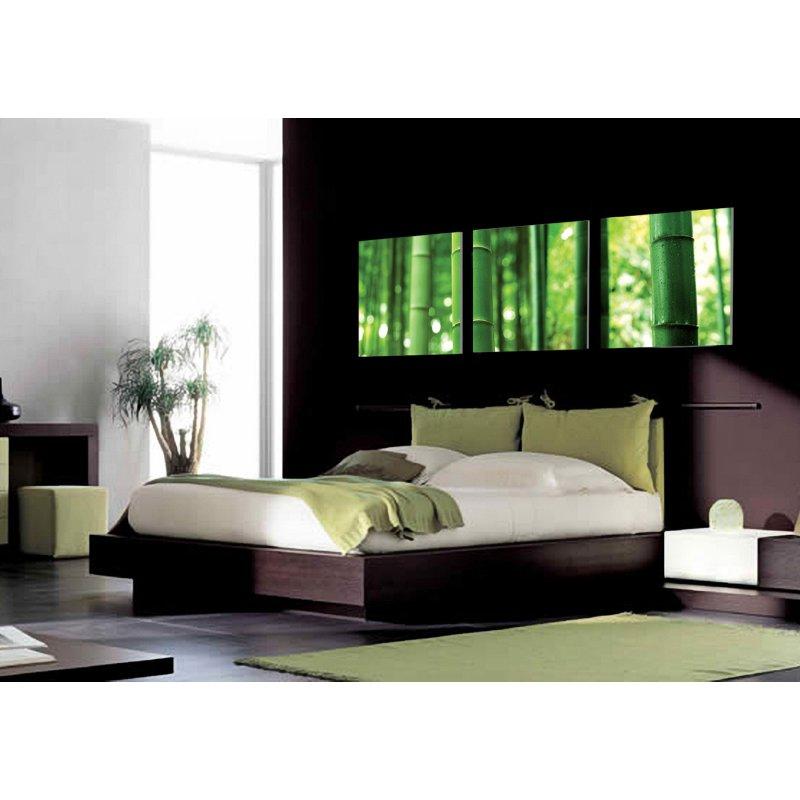 wandbild 3er set bambus halme pflanzen natur asien 3 bilder auf holzf 39 90. Black Bedroom Furniture Sets. Home Design Ideas