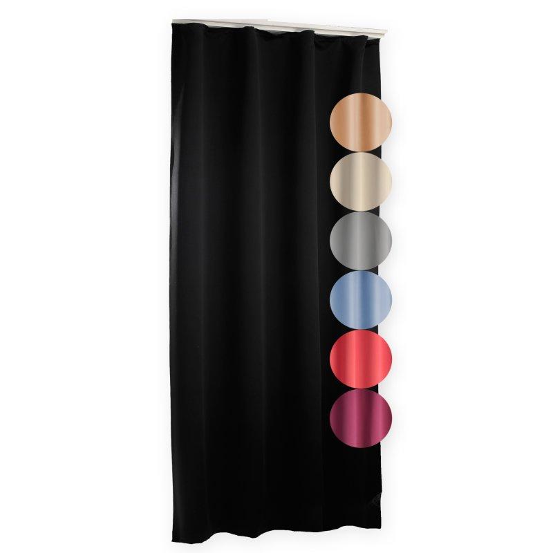 verdunklungsvorhang uni schwarz 135 x 245 kr uselband haus und deko 26 95. Black Bedroom Furniture Sets. Home Design Ideas