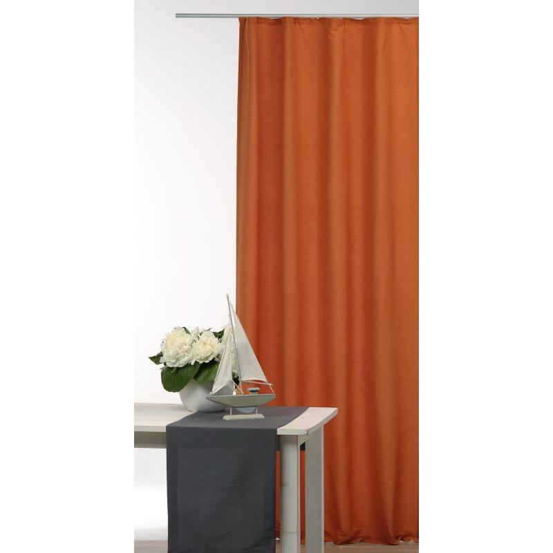 bergardine blickdicht joy bergardine mit kr uselband orange rost 23 95. Black Bedroom Furniture Sets. Home Design Ideas