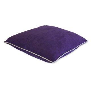 kissenh lle kaito alcantara optik 40 x 40 cm lila wei er rand haus 2 95. Black Bedroom Furniture Sets. Home Design Ideas