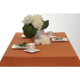 Tischdecke Joy elegant meliert 130x160 rost orange