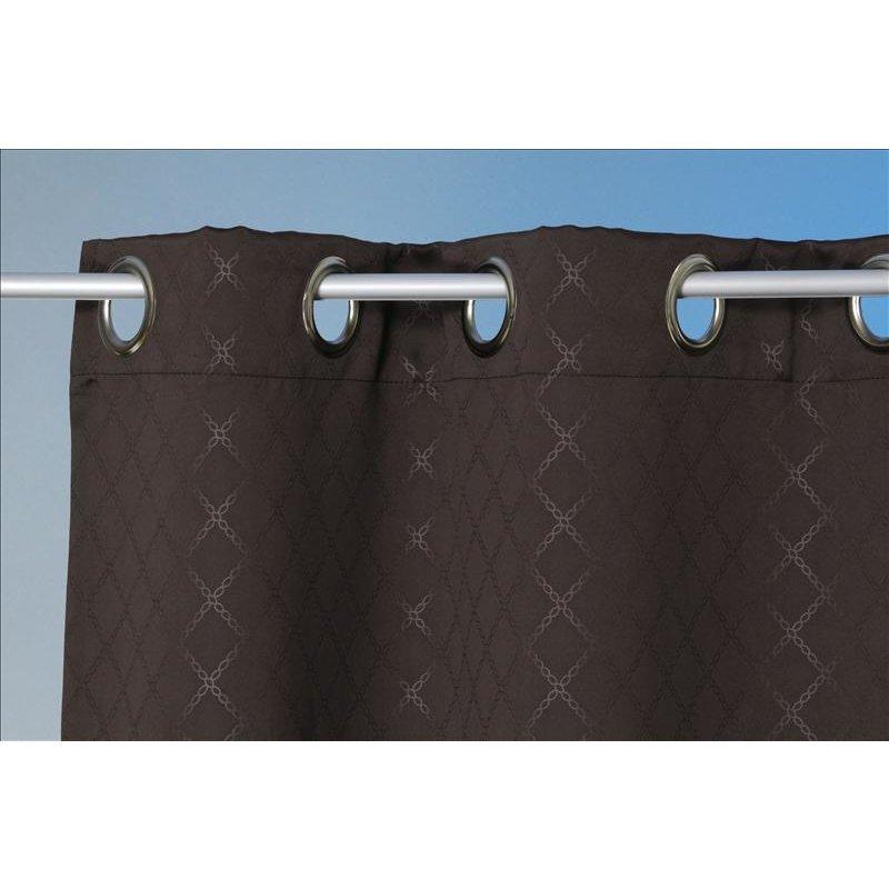 verdunklungsgardine rauten braun 135 x 245 sen haus und deko 19 94. Black Bedroom Furniture Sets. Home Design Ideas