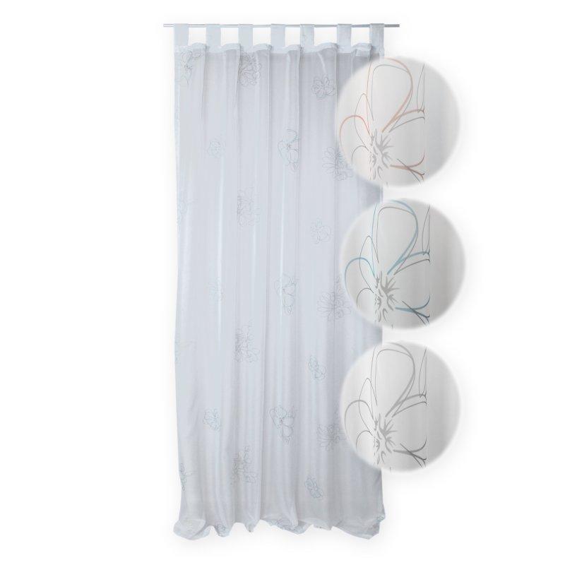voile dekoschal whitney t rkis grau mit schlaufen haus und deko 10 95. Black Bedroom Furniture Sets. Home Design Ideas