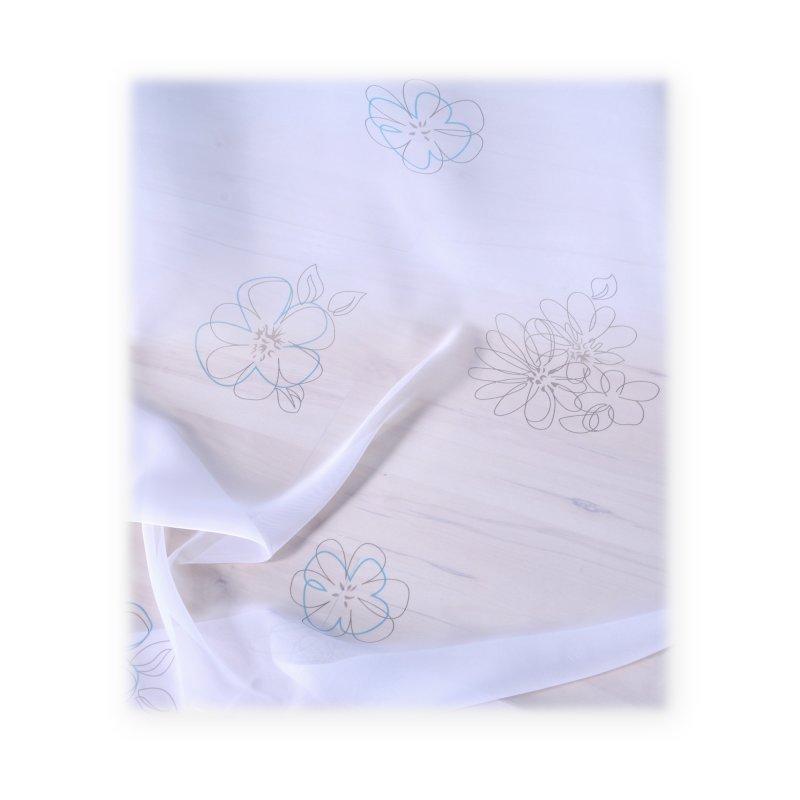 voile dekoschal whitney t rkis grau mit kr uselband haus und deko 10 95. Black Bedroom Furniture Sets. Home Design Ideas