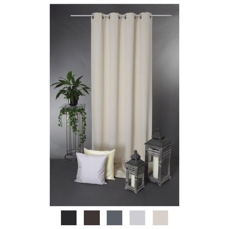 verdunklungsgardine rauten muster blickdicht gardine 135 x 245 376 29 95. Black Bedroom Furniture Sets. Home Design Ideas