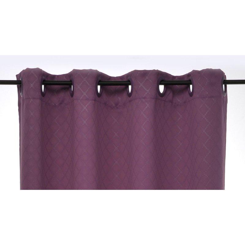 verdunklungsgardine rauten lila 135 x 245 sen haus und deko 19 94. Black Bedroom Furniture Sets. Home Design Ideas