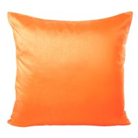 Kissenhülle Wildseide Optik uni 40x40 cm orange hell