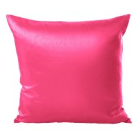 Kissenhülle Wildseide Optik uni 40x40 cm pink