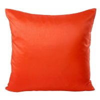 Kissenhülle Wildseide Optik uni 50x50 cm orange dunkel