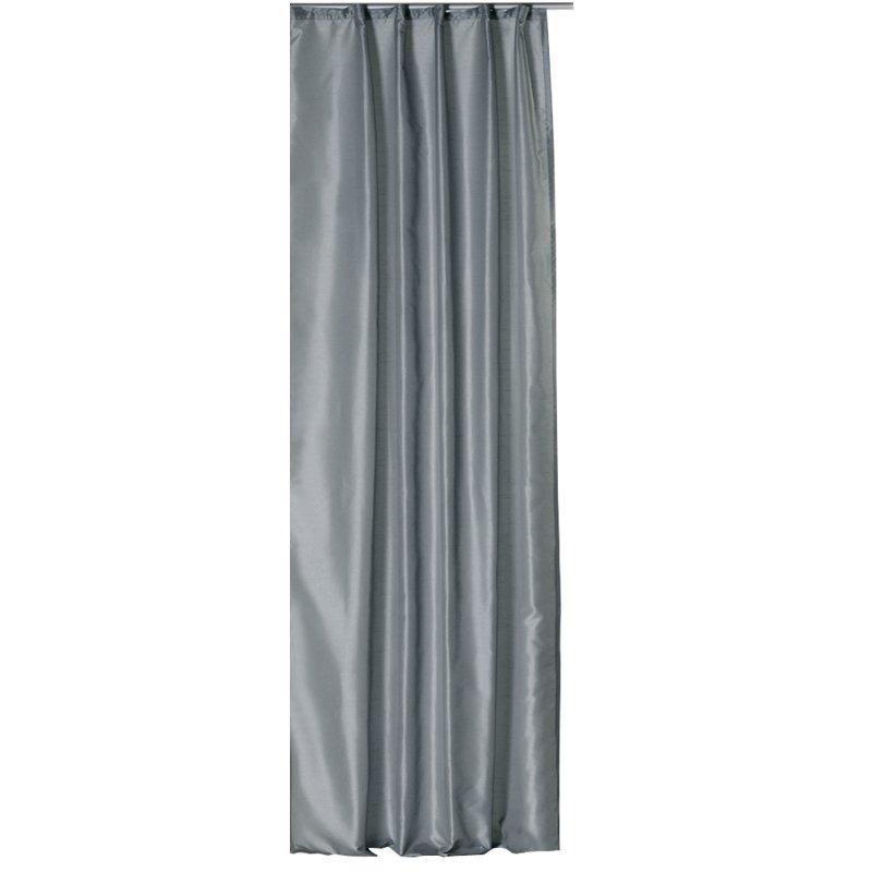 dekoschal wildseide optik grau kr uselband cm. Black Bedroom Furniture Sets. Home Design Ideas