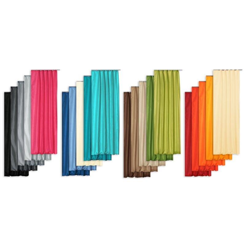 dekoschal wildseide optik grau kr uselband cm haus und deko 17 95. Black Bedroom Furniture Sets. Home Design Ideas