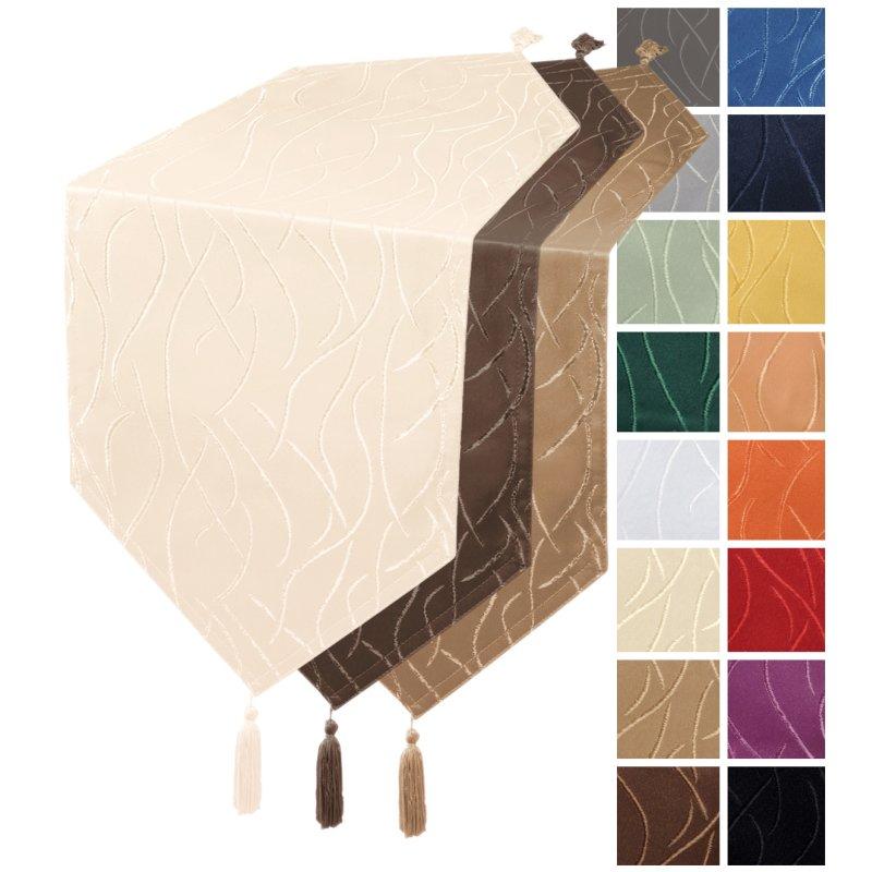 tischl ufer damast streifen tischband modern tischw sche. Black Bedroom Furniture Sets. Home Design Ideas