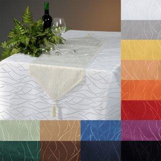 tischdecke eckig 135x200 cm struktur damast streifen. Black Bedroom Furniture Sets. Home Design Ideas