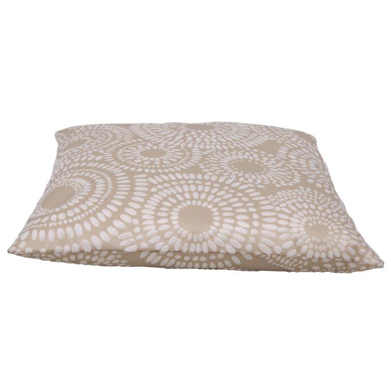 kissenh lle retro kreise kissenbezug 50x50 cm beige haus. Black Bedroom Furniture Sets. Home Design Ideas
