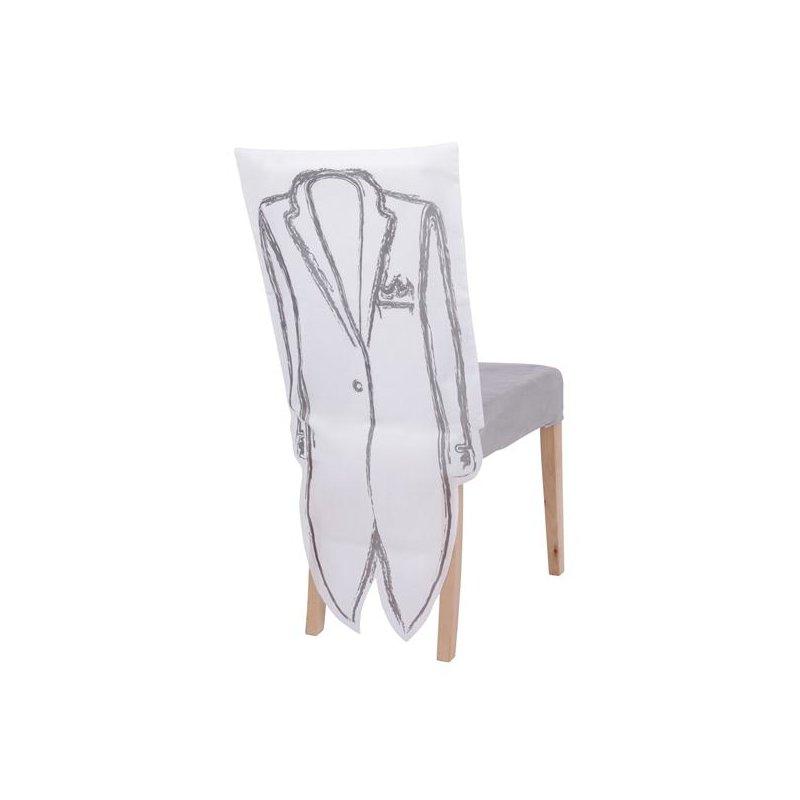 festliche stuhlhusse hochzeit deko stuhl bezug 2er set. Black Bedroom Furniture Sets. Home Design Ideas