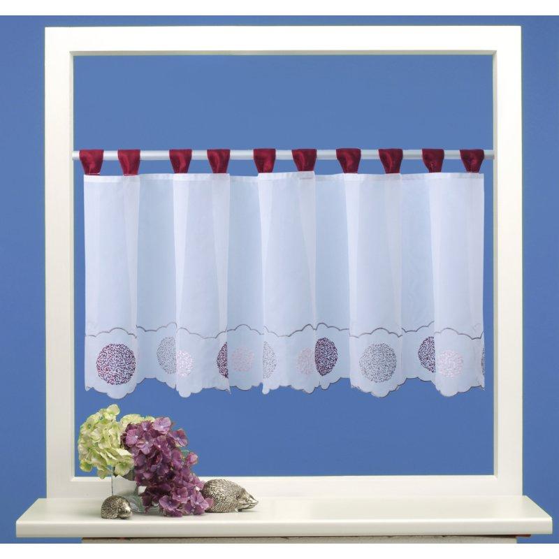 bistrogardine punkte ca 155x45 cm cafehaus gardine transparent voile 9 95. Black Bedroom Furniture Sets. Home Design Ideas