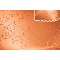 Tischdecke orange 160x260 cm eckig damast Ornamente...