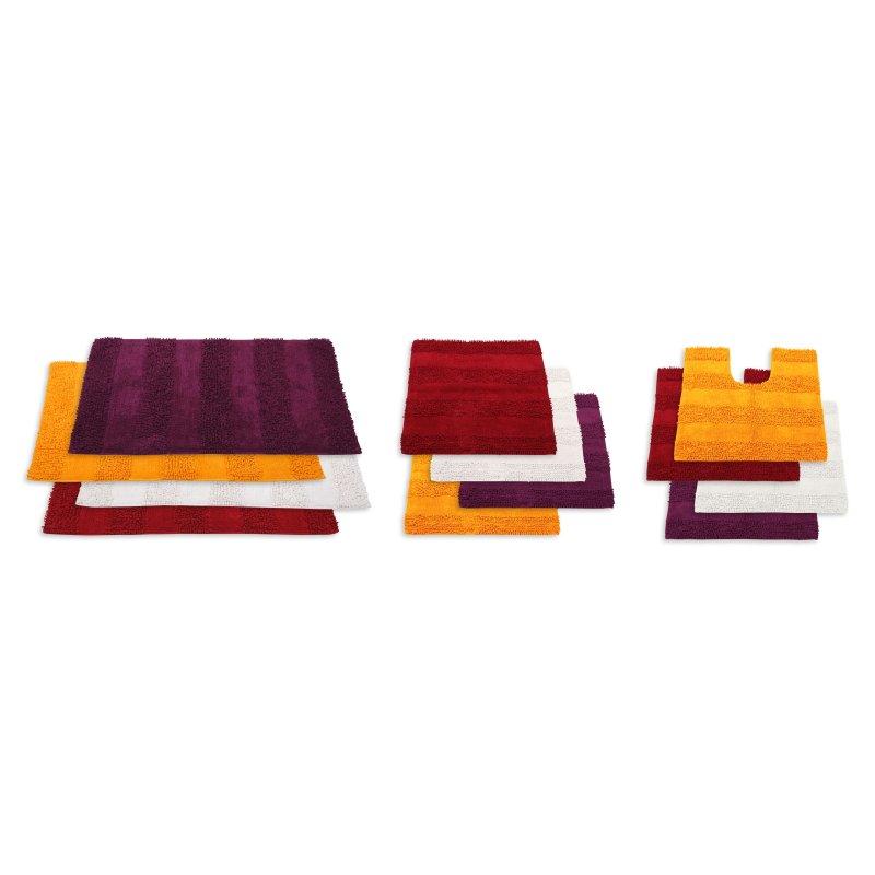 Badezimmerteppich Shaggy Streifen Duschvorleger Badematte Badteppich  Badvorleger Teppich Farbwahl #1327