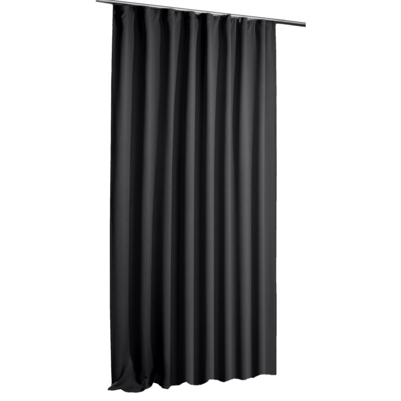verdunkelungsvorhang schwarz blackout schwarz kr uselband 135 x 245 25 95. Black Bedroom Furniture Sets. Home Design Ideas