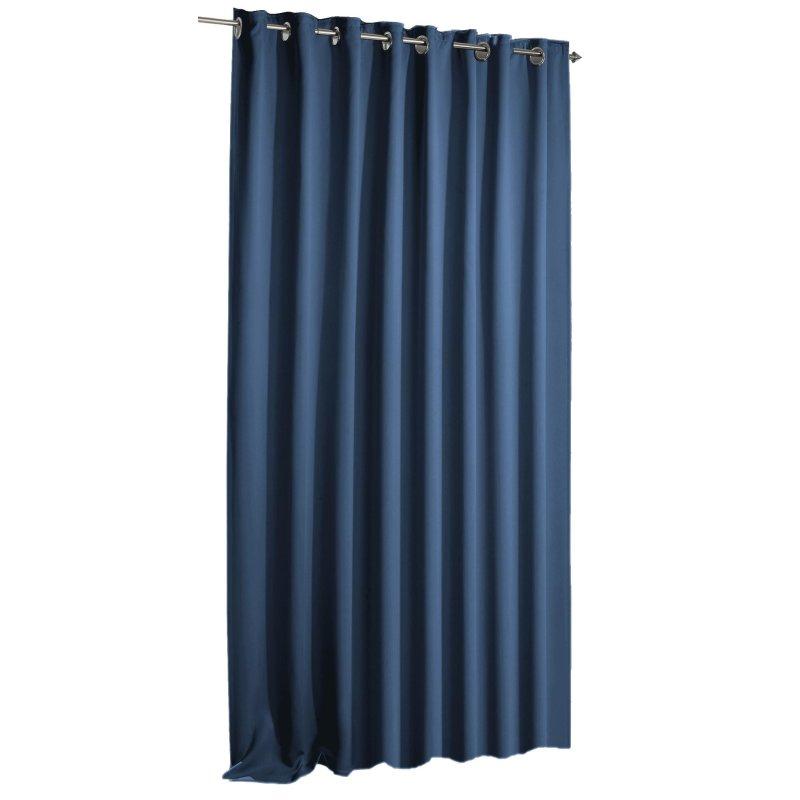 Verdunkelungsvorhang blackout blau sen 135 x 245 haus for Verdunkelungsvorhang blau