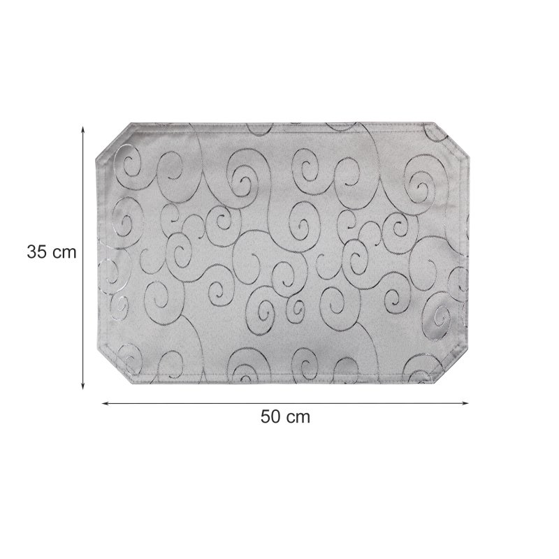 platzset damast circle silber 35x50 haus und deko 3 95. Black Bedroom Furniture Sets. Home Design Ideas