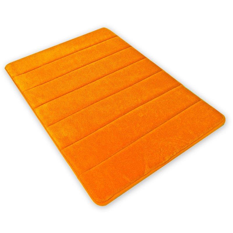 badezimmerteppich super soft duschvorleger badematte badteppich badvorleger teppich 1355 orange. Black Bedroom Furniture Sets. Home Design Ideas