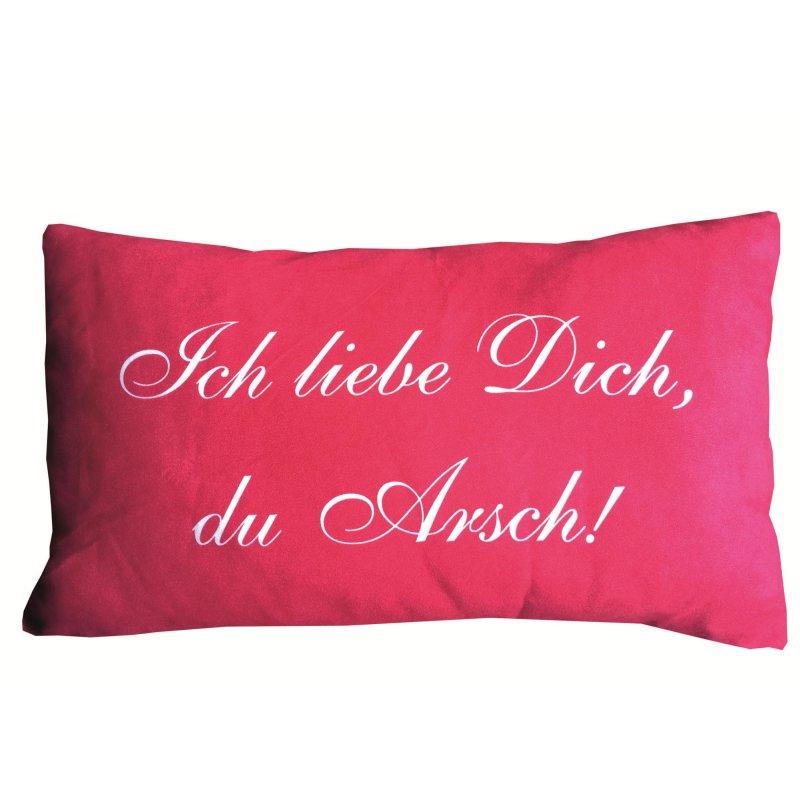 dekokissen mit frechen spr chen kissen 30x50 cm mit rei verschluss au 9 95. Black Bedroom Furniture Sets. Home Design Ideas