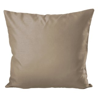 Kissenhülle Wildseide Optik uni 40x40 cm taupe hell