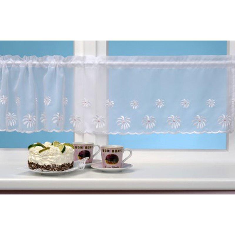 bistrogardine svenja fenstergardine 145x30cm 4 farben stangendurchzug 9 45. Black Bedroom Furniture Sets. Home Design Ideas