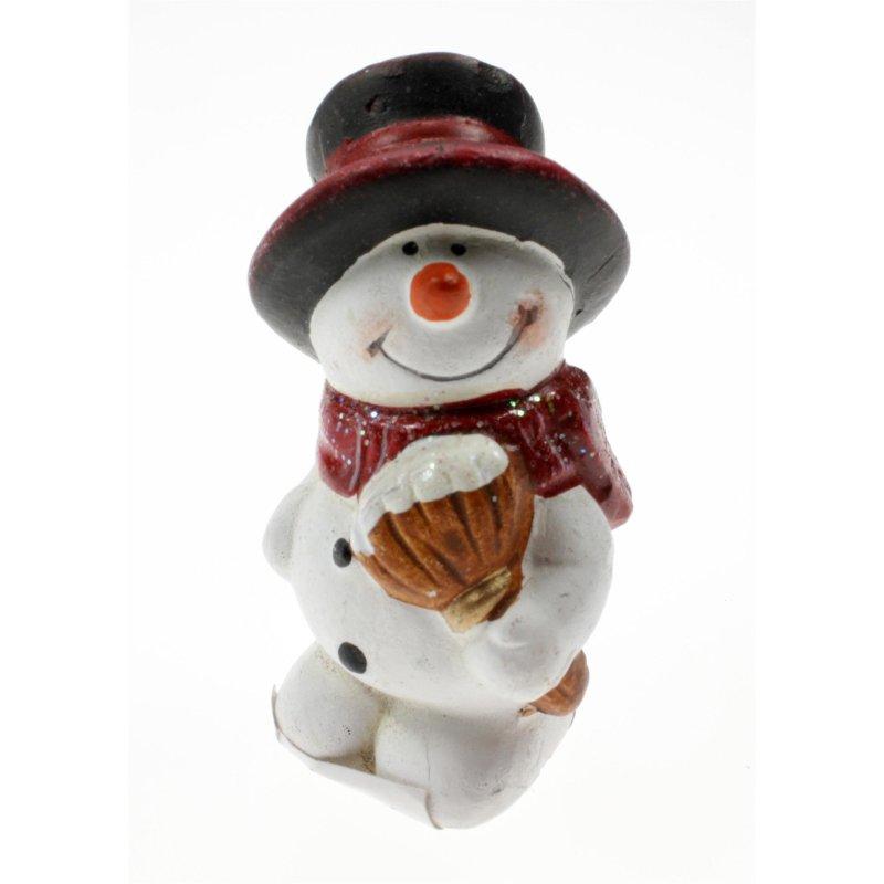 Weihnachten schneemann klassisch mit zylinder 7x4 cm for Dekoration schneemann