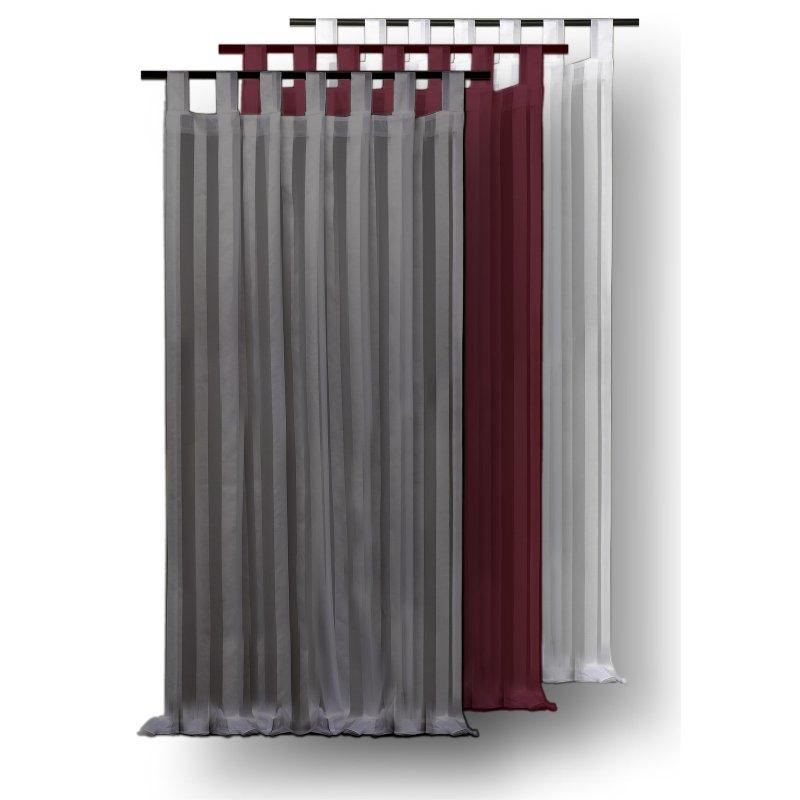 voile gardine streifen dekoschal 140x175 cm halbtransparent schlaufen 14 95. Black Bedroom Furniture Sets. Home Design Ideas
