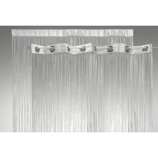 fadenvorhang wei mit lurex veredelt 140x250 cm sen o kr uselband vorhang 1486 haus deko. Black Bedroom Furniture Sets. Home Design Ideas
