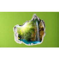 Wandbild Glow Waterfall Sticker 3D civil Life Foto Tapete...
