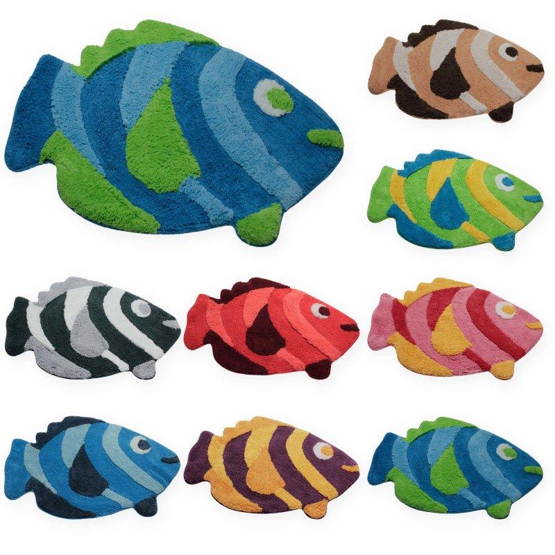 Badezimmer Teppich Fisch Duschvorleger Badematte Badteppich Badvorleger  #1551