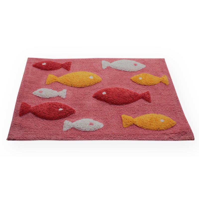 badezimmer teppich eckig fisch rosa 50x80 cm haus und deko 15 95. Black Bedroom Furniture Sets. Home Design Ideas