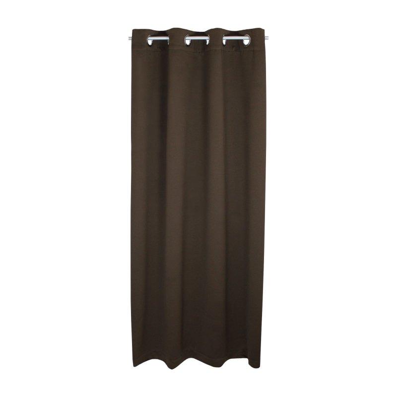 verdunklungsgardine blackout sen vorhang blickdicht 135 x 245 gardine 1218 braun haus und. Black Bedroom Furniture Sets. Home Design Ideas